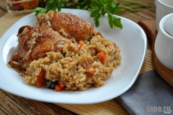 Индейка с рисом в духовке