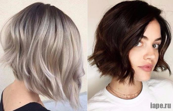 Удлиненное каре-каскад для средних волос