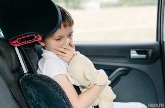 Почему ребенка укачивает в транспорте